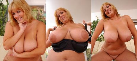 Curvy busty hairy mature women