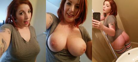 Selfie nude busty amateur